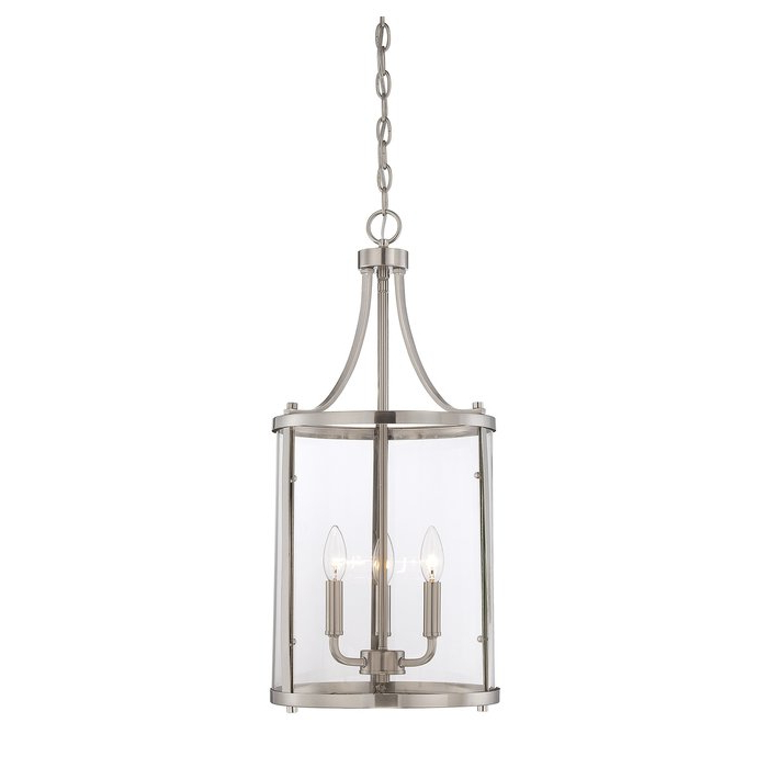 Most Popular Tessie 3 Light Lantern Cylinder Pendants For 3 Light Lantern Cylinder Pendant (Gallery 13 of 30)