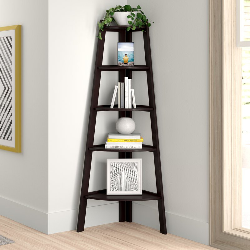 Most Popular Tisha Corner Bookcase Inside Tisha Corner Bookcases (Gallery 1 of 20)