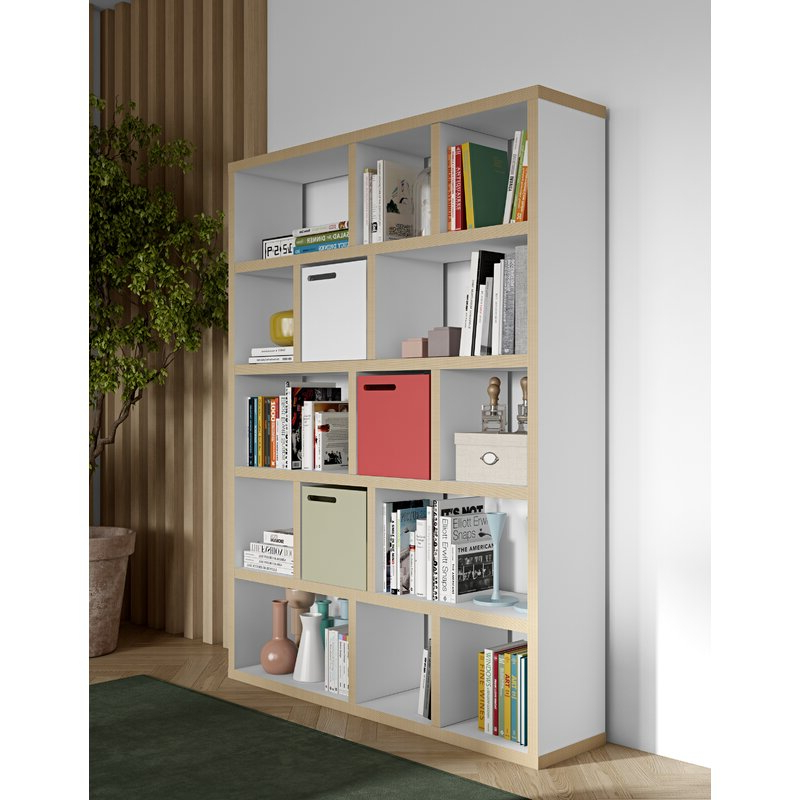 Most Popular Varga 5 Level Geometric Bookcases In Varga 5 Level Geometric Bookcase (Gallery 7 of 20)