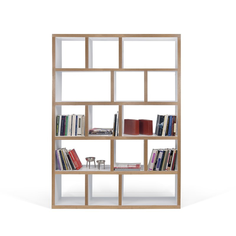 Most Popular Varga 5 Level Geometric Bookcases Regarding Varga 5 Level Geometric Bookcase (View 9 of 20)