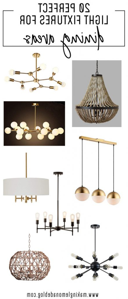 Most Recent 20 Light Fixtures Perfect For Dining Areas (View 11 of 30)