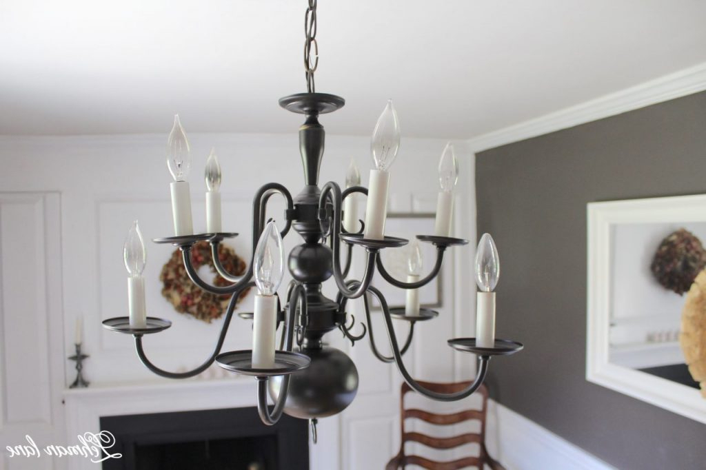 Most Recent An Easy Chandelier Makeover With Spray Paint – Lehman Lane Regarding Dirksen 3 Light Single Cylinder Chandeliers (Gallery 20 of 30)