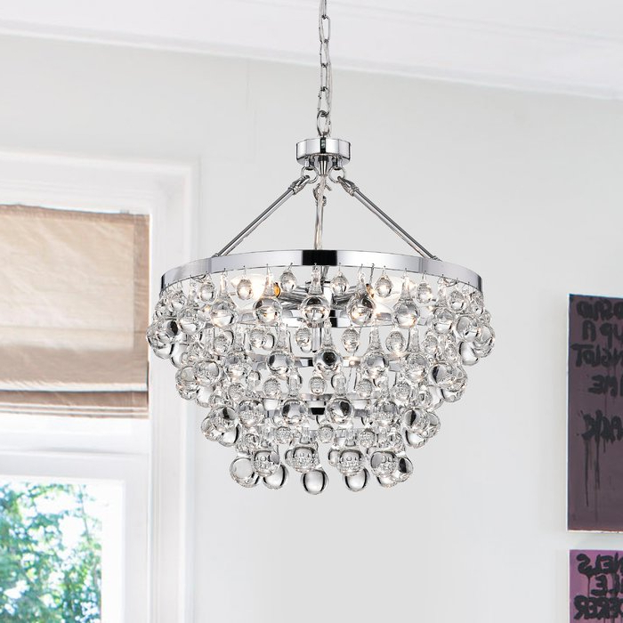 Most Recent Benedetto 5 Light Crystal Chandeliers With Ahern 5 Light Crystal Chandelier (Gallery 6 of 30)