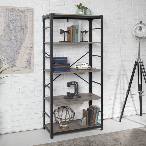 Most Recent Cecelia Etagere Bookcases For Cecelia Etagere Bookcase Borough Wharf Colour: Grey Wash (Gallery 16 of 20)