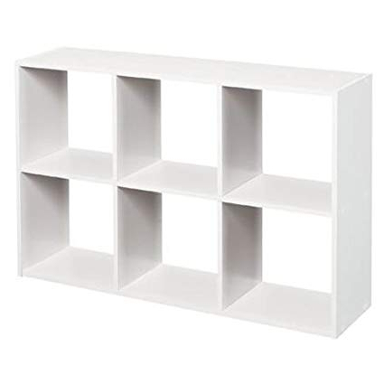 Most Recent Closetmaid 1578 Cubeicals Mini 6 Cube Organizer, White With Regard To Cubicals Cube Bookcases (Gallery 5 of 20)