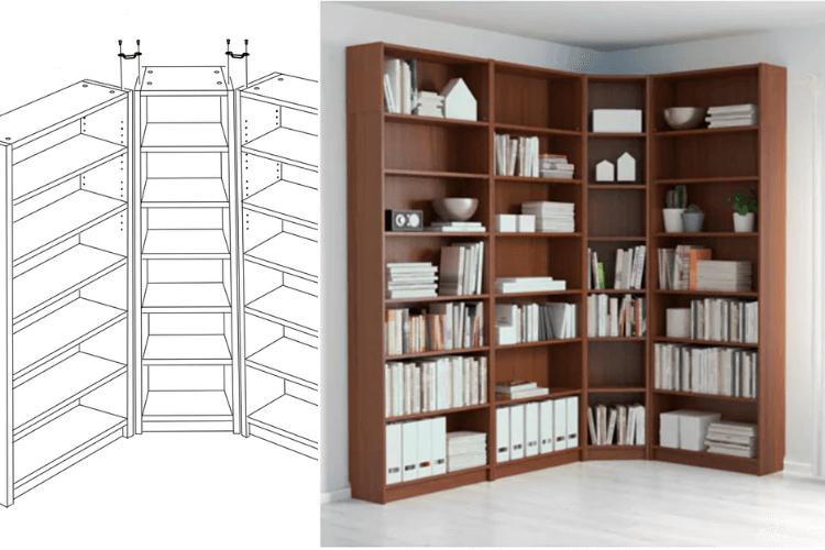Most Recent Corner Unit Bookcases Regarding Hackers Help: Doors For Billy Corner Unit? – Ikea Hackers (Gallery 5 of 20)
