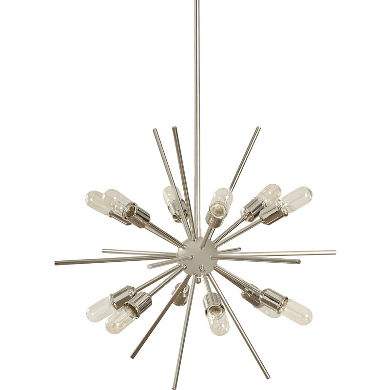 Most Recent Corona 12 Light Sputnik Chandelier With Corona 12 Light Sputnik Chandeliers (Gallery 4 of 30)