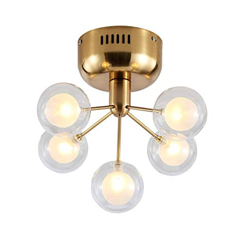 Most Recent Dellemade Xd00124 5 Light Sputnik Chandelier Glass Ceiling Light G4 Bulbs Included,golden With Regard To Bautista 5 Light Sputnik Chandeliers (View 21 of 30)