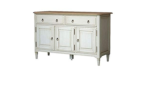 Most Recent Etienne Sideboards For Etienne Shabby Chic Oak Large Sideboard: Amazon.co (View 13 of 20)