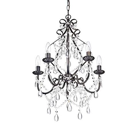 Most Recent Florentina 5 Light Candle Style Chandeliers For Bethany 5 Light Iron And Crystal Candle Chandelier (View 15 of 30)