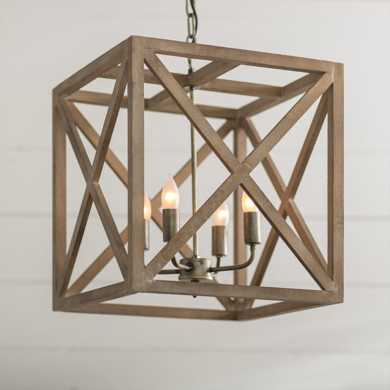 Most Recent Freeburg 4 Light Lantern Square / Rectangle Pendants Throughout William 4 Light Lantern Square / Rectangle Pendant (View 23 of 30)
