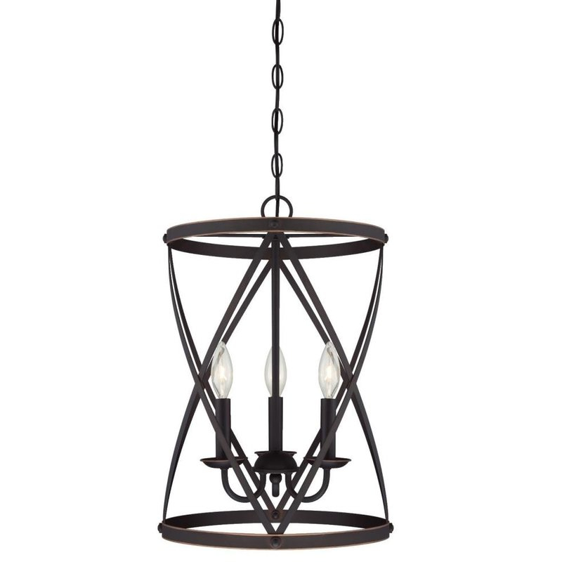 Most Recent Gingerich 3 Light Lantern Pendant With Regard To Nisbet 6 Light Lantern Geometric Pendants (View 14 of 30)