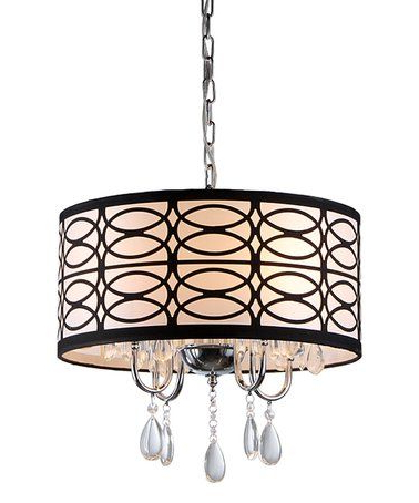 Most Recent Gisselle 4 Light Drum Chandeliers For Olga Crystal Chandelier #zulily #zulilyfinds.  (View 22 of 30)