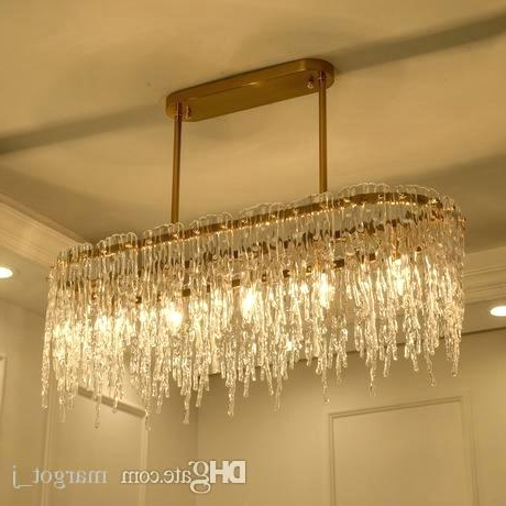 Most Recent Glass Rectangular Chandelier – Firstclassauto.co With Ellenton 4 Light Rectangle Chandeliers (Gallery 23 of 30)