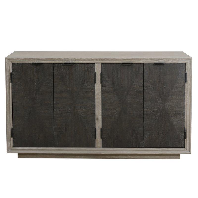 Most Recent Hoover Four Door Duotone Parquet Sideboard Regarding Massillon Sideboards (View 16 of 20)