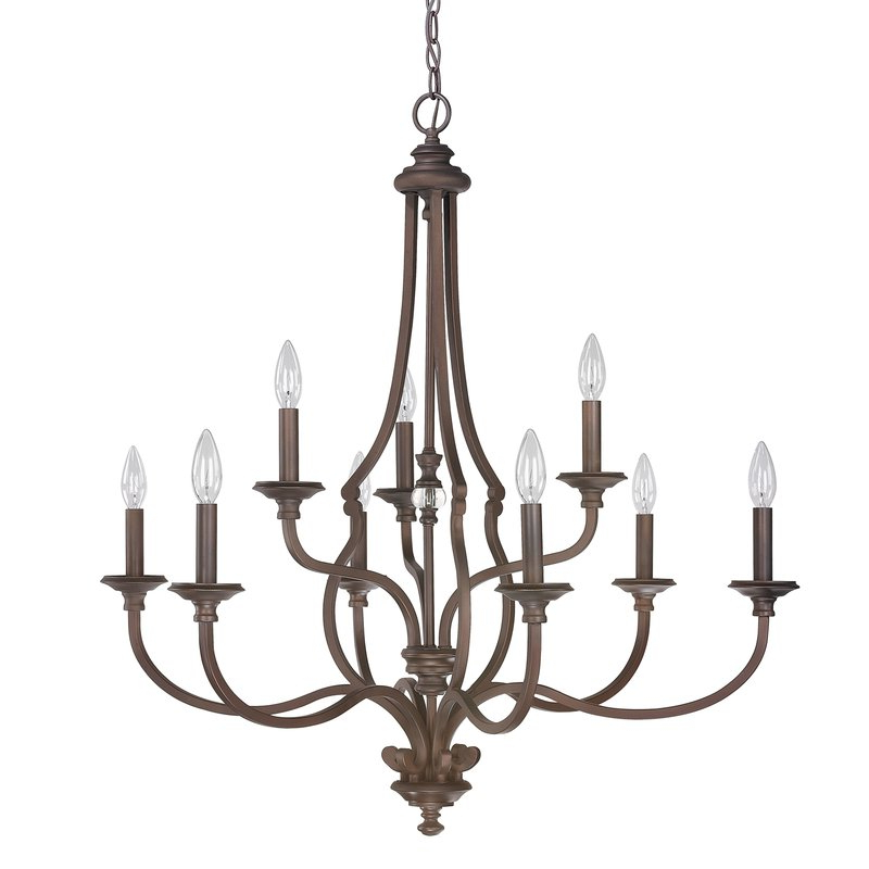 Most Recent Jaclyn 9 Light Candle Style Chandelier Pertaining To Berger 5 Light Candle Style Chandeliers (View 24 of 30)