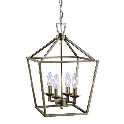 Most Recent Lantern Pendant Light: Amazon Inside Taya 4 Light Lantern Square Pendants (View 13 of 30)