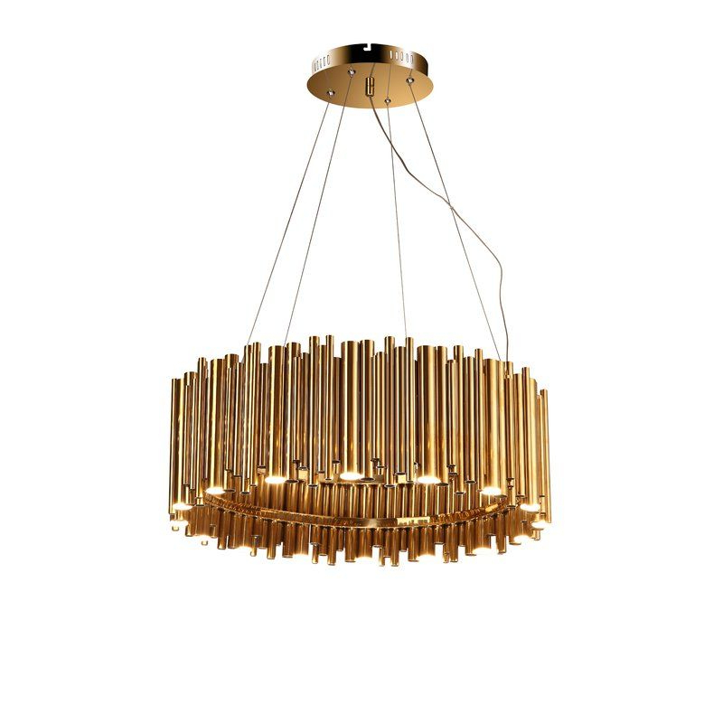 Most Recent Leiters 3 Light Lantern Geometric Pendants In Leiter Rod Fixture 16 Light Led Chandelier (Gallery 29 of 30)