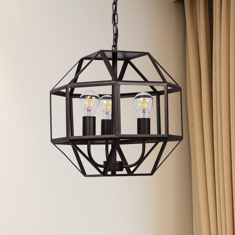 Most Recent Mullican 3 Light Geometric Chandelier For Tabit 5 Light Geometric Chandeliers (Gallery 13 of 30)