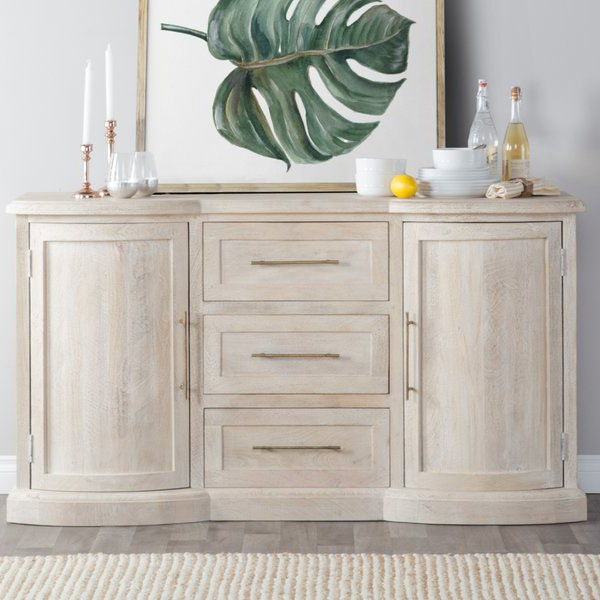 Most Recent Papadopoulos Sideboards Pertaining To This Greenfield Mango Wood Sideboard Features A White Washed (View 14 of 20)