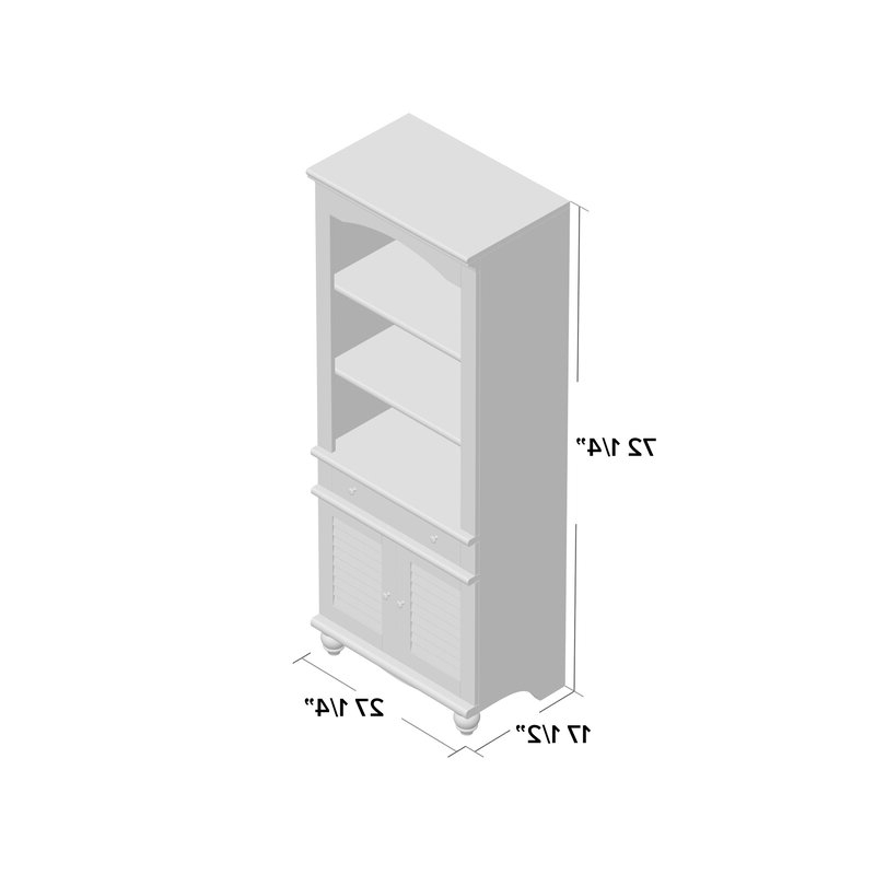 Most Recent Pinellas Tall Standard Bookcases Regarding Pinellas Tall Standard Bookcase (Gallery 5 of 20)