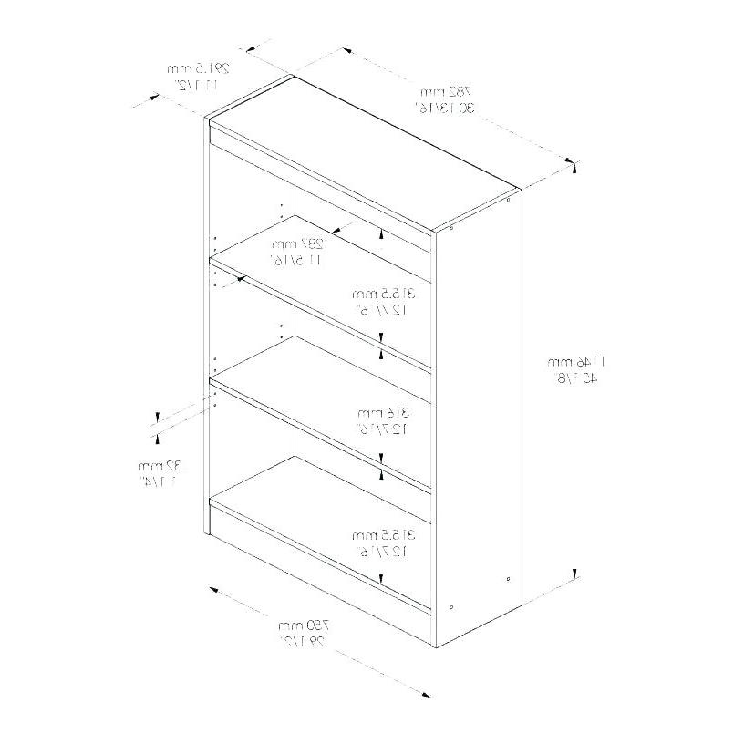 Most Recent Series C Standard Bookcases Inside Standard Bookshelves – Davidcartu (View 8 of 20)