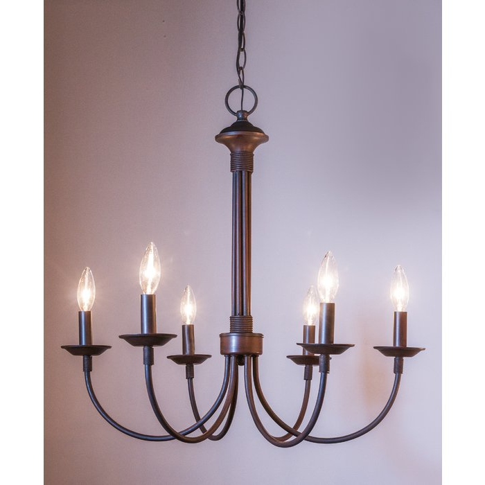 Most Recent Shaylee 5 Light Candle Style Chandeliers Intended For Shaylee 6 Light Candle Style Chandelier (View 11 of 30)
