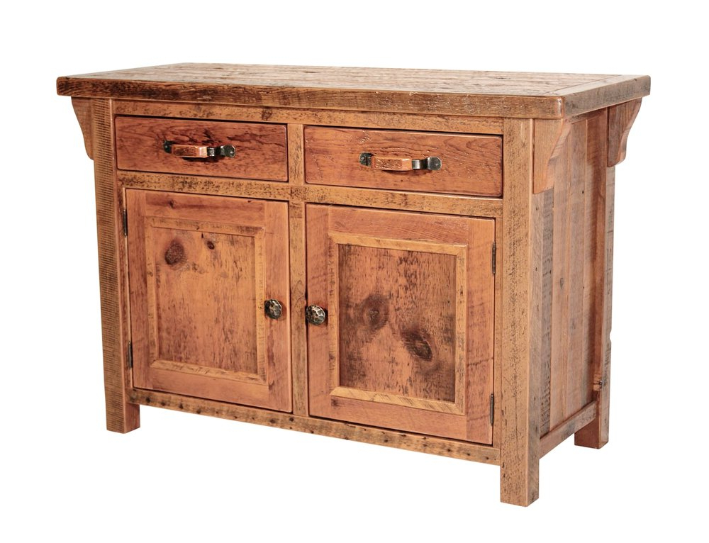 Most Recent Stillwater Sideboards Pertaining To Stillwater 4 Door Hutch W/ Glass Doors — Reclaimed Rustic Woodworks (View 10 of 20)