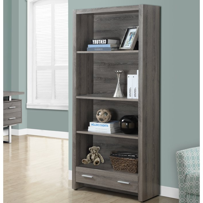 Most Recent Tressler Standard Bookcase Within Kiley Standard Bookcases (View 16 of 20)
