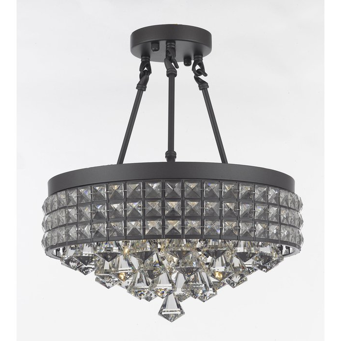 Most Recently Released Adriana 4 Light Crystal Chandelier For Mckamey 4 Light Crystal Chandeliers (Gallery 16 of 30)