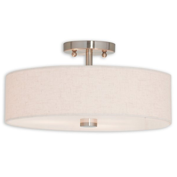 Most Recently Released Alina 3 Light Semi Flush Mount Regarding Alina 5 Light Drum Chandeliers (View 21 of 30)