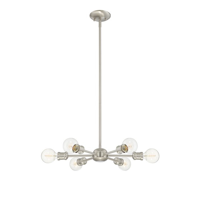 Most Recently Released Bautista 6 Light Sputnik Chandelier In Bautista 6 Light Sputnik Chandeliers (Gallery 10 of 30)