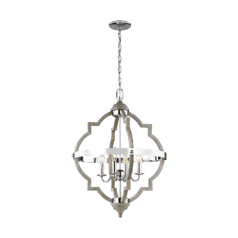 Most Recently Released Bennington 6 Light Candle Style Chandeliers Pertaining To Bennington 4 Light Candle Style Chandelier (View 15 of 30)