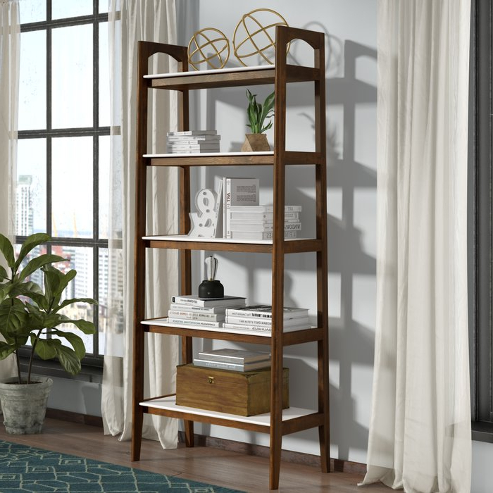 Most Recently Released Bordelon Slatted Ladder Bookcases Regarding Erin Ladder Bookcase (Gallery 17 of 20)