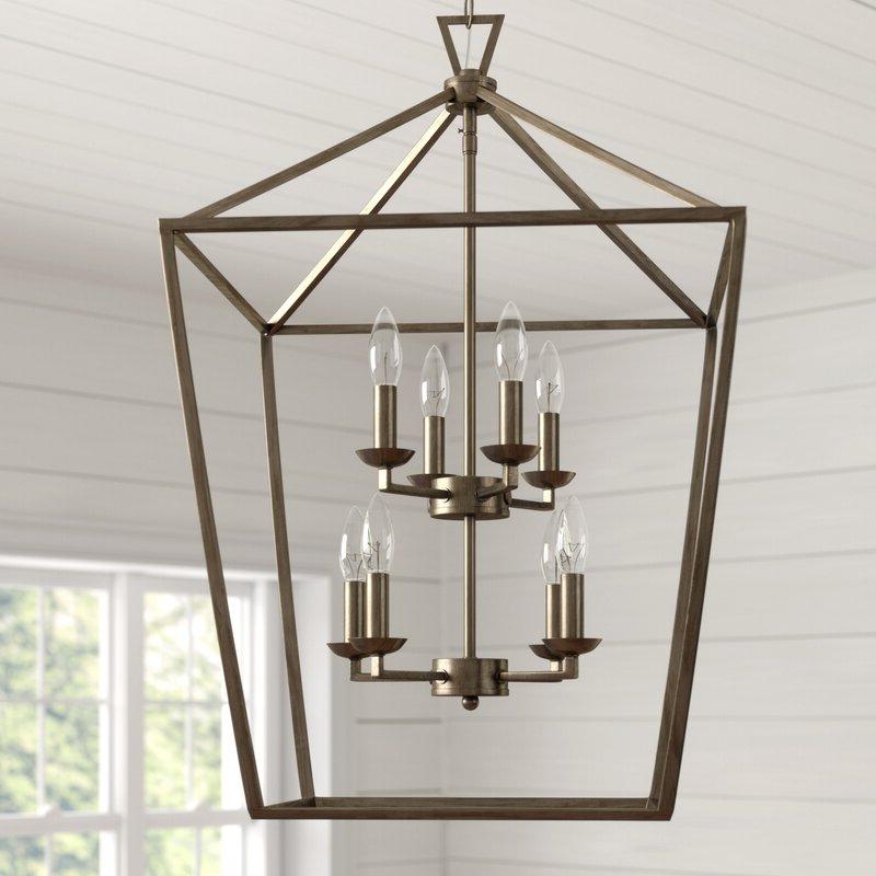 Featured Photo of Carmen 8 Light Lantern Tiered Pendants