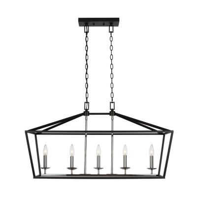 Most Recently Released Classic – Black – Chandeliers – Lighting – The Home Depot Intended For Donna 4 Light Globe Chandeliers (View 21 of 30)