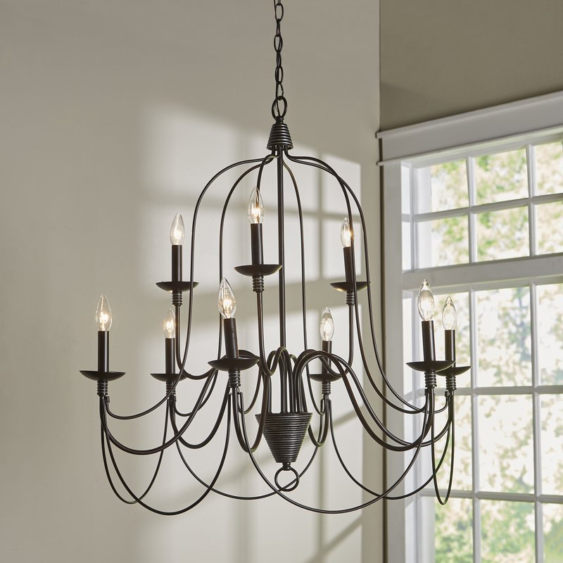 Most Recently Released Eastbourne 6 Light Unique / Statement Chandeliers Pertaining To Watford 9 Light Candle Style Chandelier (Gallery 19 of 30)