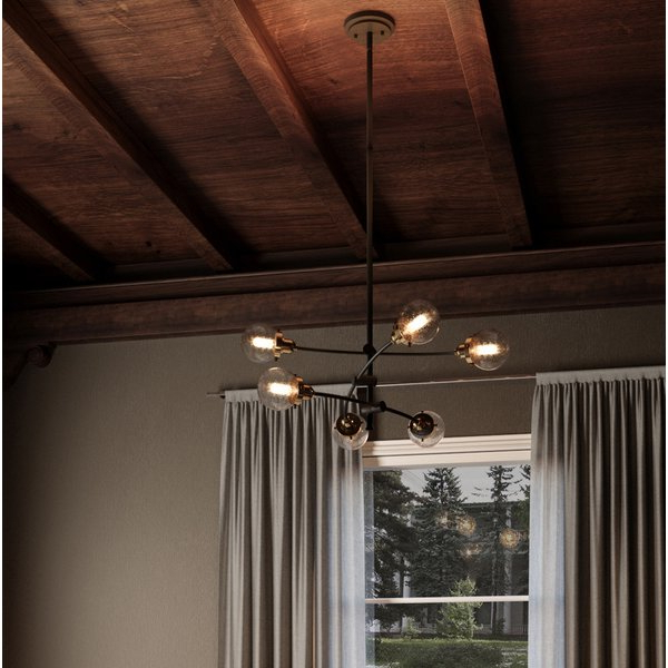 Most Recently Released Eladia 6 Light Sputnik Chandeliers For Brucie 6 Light Chandelier (View 19 of 30)