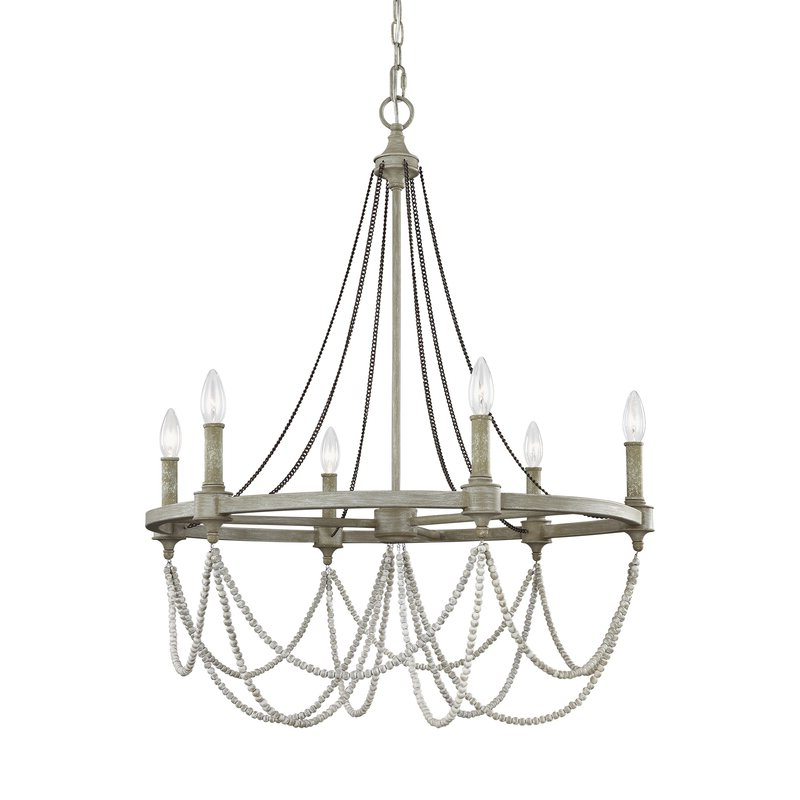 Most Recently Released Fitzgibbon 6 Light Candle Style Chandelier With Regard To Ladonna 5 Light Novelty Chandeliers (View 21 of 30)