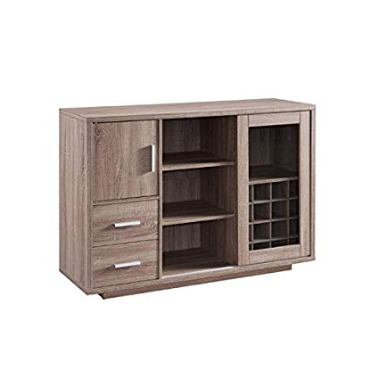 Most Recently Released Furniture Of America Payton Wine Rack Buffet In Weathered Wood Inside Payton Serving Sideboards (View 9 of 20)