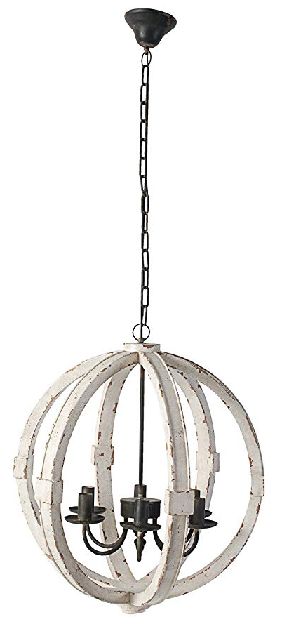 "Most Recently Released Gaines 5 Light Shaded Chandeliers Regarding A&b Home Calder Wooden Chandelier, 22.5""l X (View 17 of 30)"