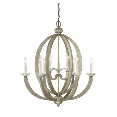 Most Recently Released Gaines 9 Light Candle Style Chandeliers Pertaining To Broche 8 Light Shaded Chandelier (View 22 of 30)