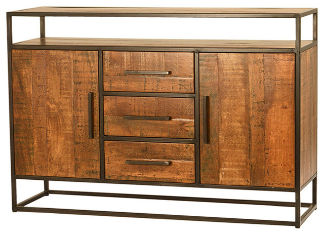 Most Recently Released Gertrude Sideboards Within Mango Wood & Iron Sideboard W/drawers (View 18 of 20)