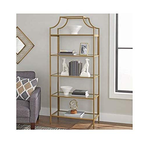 Most Recently Released Gracelynn 5 Tier Etagere Bookcases In Etagere Bookcase: Amazon (View 13 of 20)
