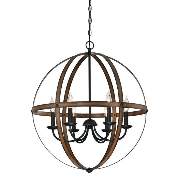 Most Recently Released Joon 6 Light Globe Chandelier Inside Filipe Globe Chandeliers (View 21 of 30)