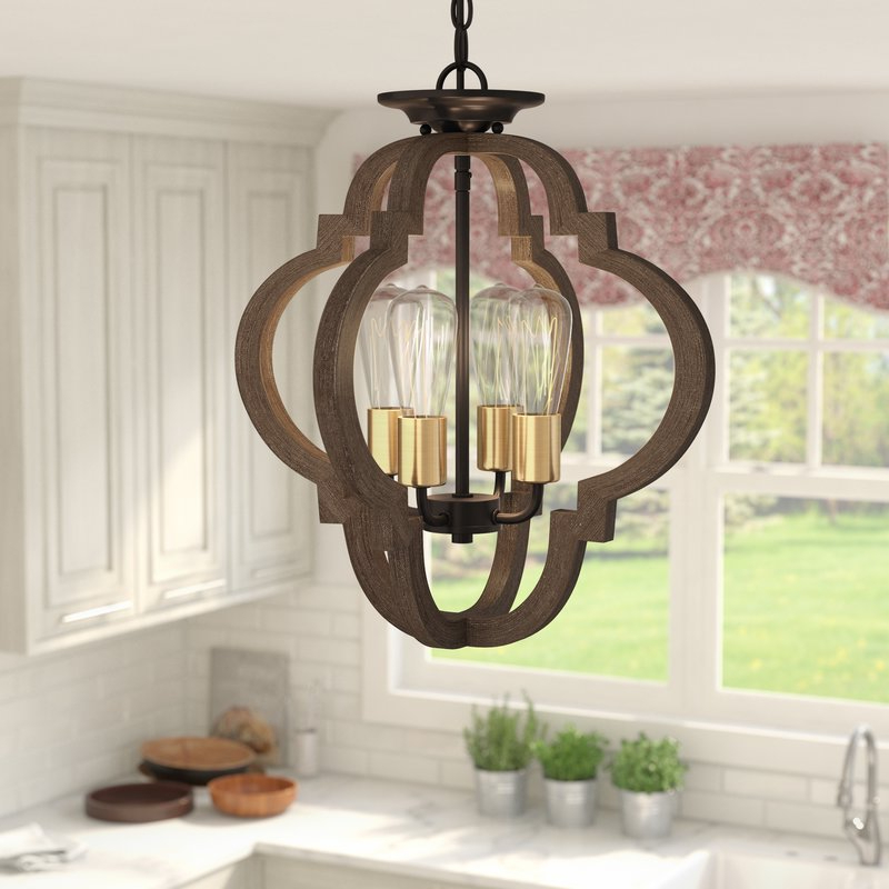 Most Recently Released Kaycee 4 Light Geometric Chandeliers Pertaining To Kaycee 4 Light Geometric Chandelier (View 21 of 30)