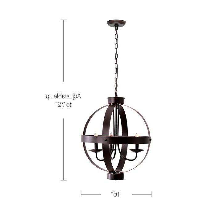 Most Recently Released La Sarre 3 Light Globe Chandelier Inside Verlene Foyer 5 Light Globe Chandeliers (Gallery 17 of 30)