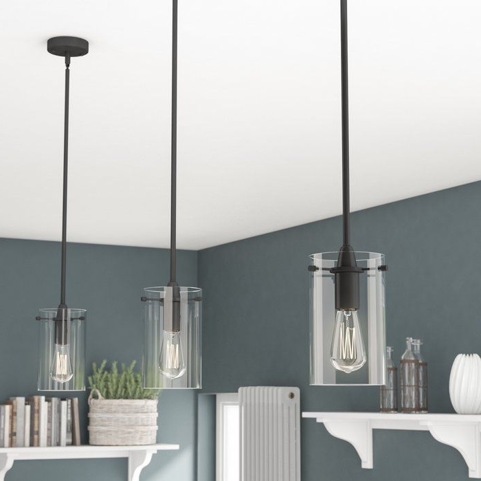 Most Recently Released Louanne 1 Light Lantern Geometric Pendants For Plattsmouth 1 Light Cylinder Pendant (View 23 of 30)