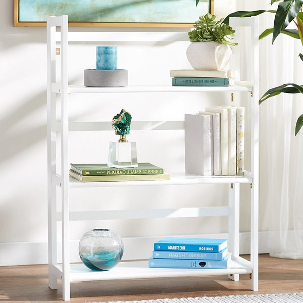 Most Recently Released Reanna 3 Shelf Folding Standard Bookcaseebern Designs Intended For Martinsville Standard Bookcases (View 15 of 20)