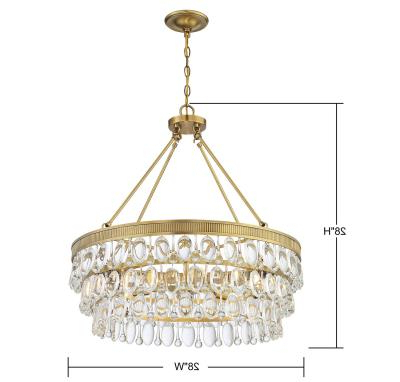 Most Recently Released Sherri 6 Light Chandeliers Throughout Mid (View 30 of 30)